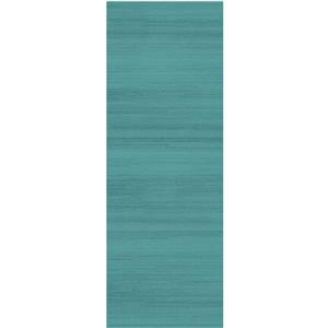 Ruggable Textured 2-ft 6-in x 7-ft Ocean Blue Runner Rug