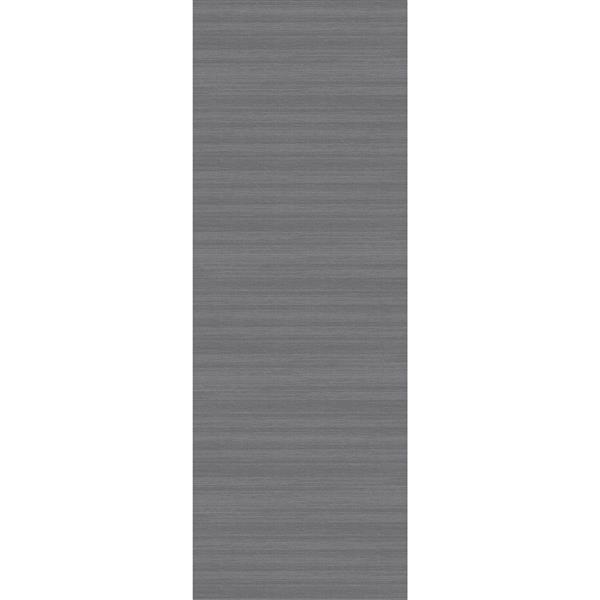 Ruggable Soild Textured 2-ft 6-in x 7-ft Grey Runner Rug