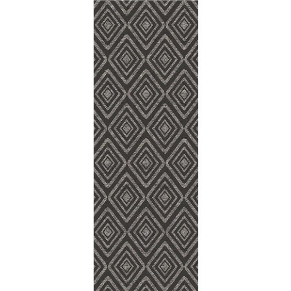 Ruggable Prism 2-ft 6-in x 7-ft Black Indoor/Outdoor Area Rug Runner
