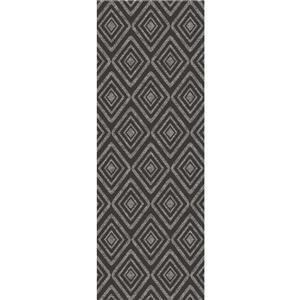 Ruggable Prism 2-ft 6-in x 7-ft Black Indoor/Outdoor Area Rug Runner