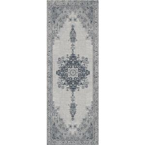 Ruggable Parisa 2-ft 6-in x 7-ft Prism Grey Indoor/Outdoor Area Rug Runner