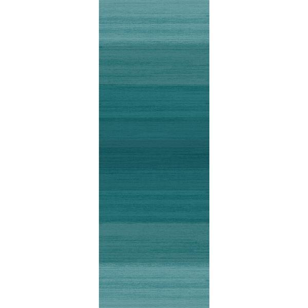 Tapis tissé intérieur/extérieur, 2.6'x7', Bleu ombré
