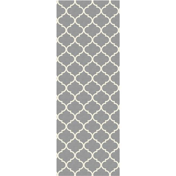 Ruggable 2-ft 6-in x 7-floor Moroccan Trellis Light Grey Area Rug