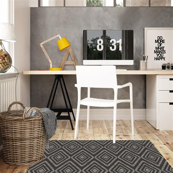 Ruggable Area Rug - Prism Black