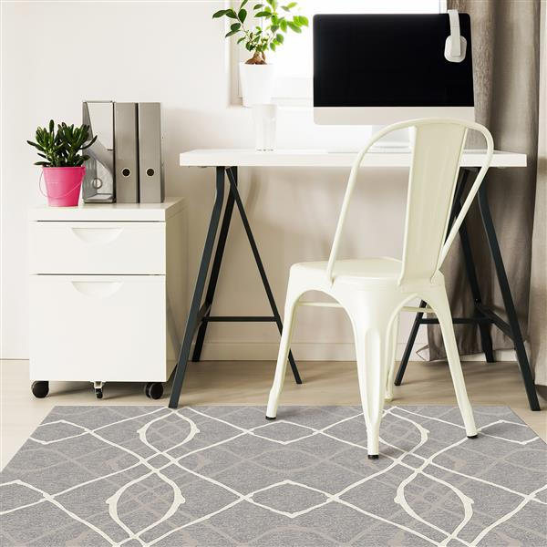 Ruggable Amara 3-ft x 5-ft Grey Indoor/Outdoor Area Rug Runner
