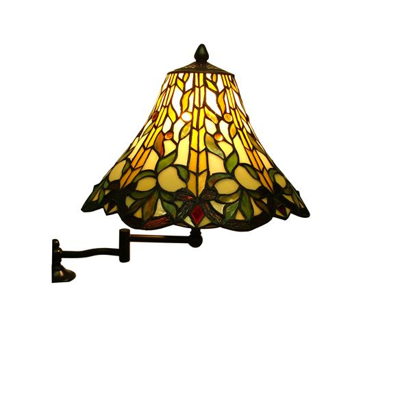 Fine Art Lighting Ltd. Tiffany 63-in Bronze Swing Arm Floor Lamp