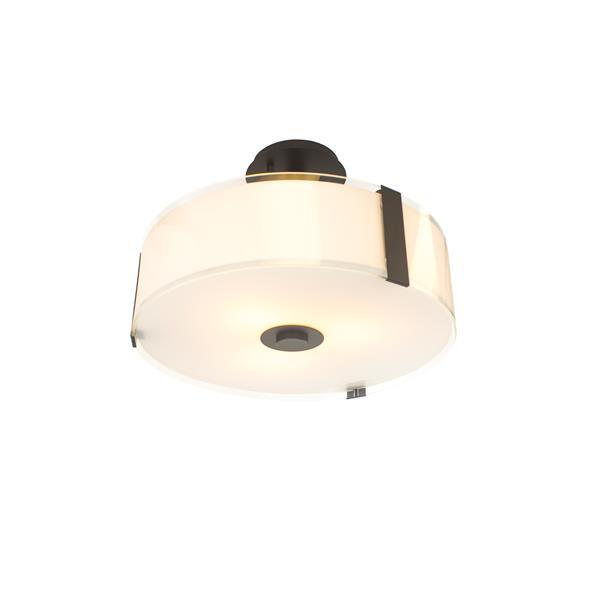 Levico Lighting Capri 3-Light Bronze 16-in x 16-in x 13-in Semi-Flush Mount