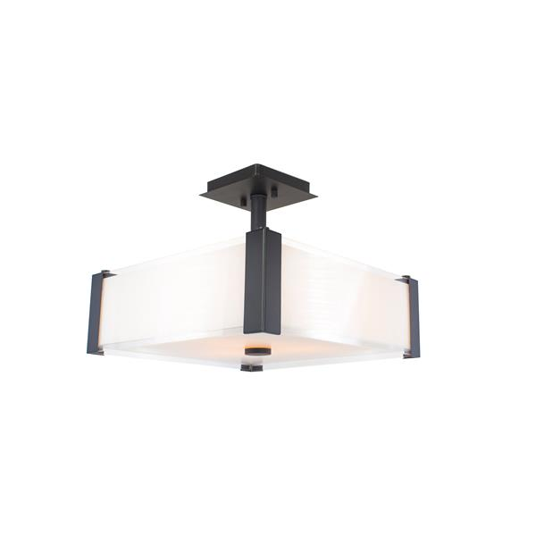 Levico Lighting Verona 3-Light Oil-Rubbed Bronze 14-in x 14-in x 12-in Semi-Flush Mount
