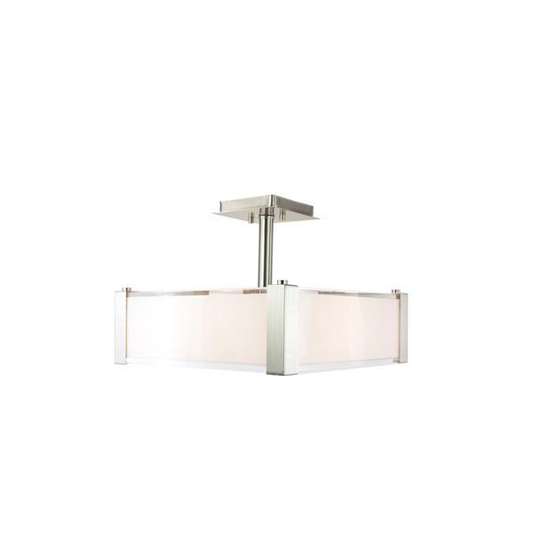 Levico Lighting Verona 3-Light Brushed Nickel 14-in x 14-in x 12-in Semi-Flush Mount