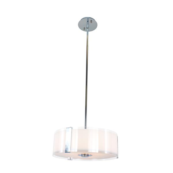 Levico Lighting Capri 15-in Chrome 3 Light Pendant