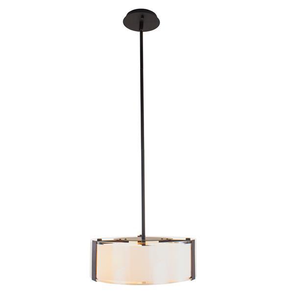 """Suspension Capri à 3 lumières, Bronze, 15"""""""