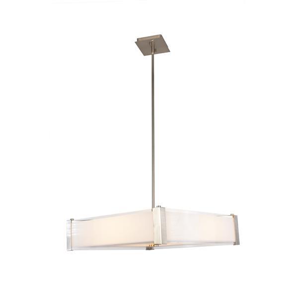 Levico Lighting Verona 20-In Brushed Nickel 3-Light Pendant Light