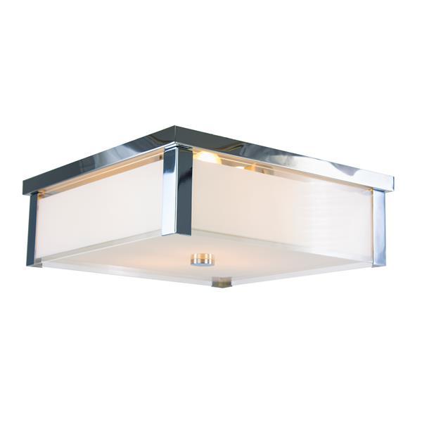 Levico Lighting Verona 17-in Chrome 3-Light Flush Mount