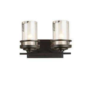 Madison 9.5-in x 12.5-in Bronze 2-Light Vanity