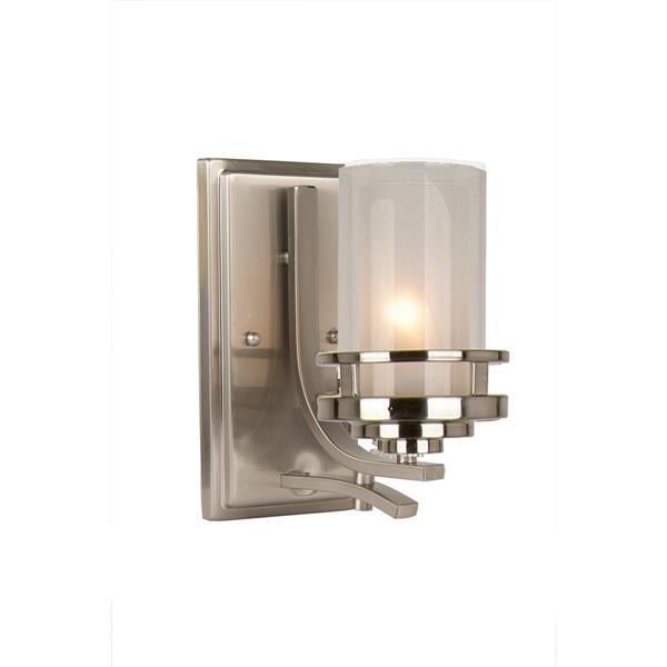 Levico Lighting Madison Brushed Nickel Single Light Wall Sconce