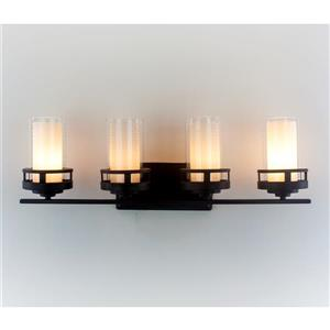 Levico Lighting Madison 28-in Bronze 4-Light Vanity