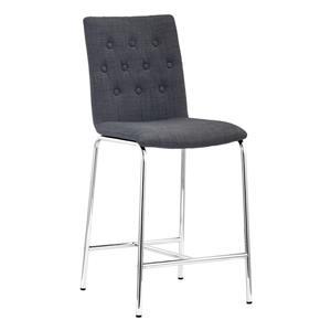 Zuo Modern Uppsala Bar Chair - 39-in x 16.5-in - Dark Grey