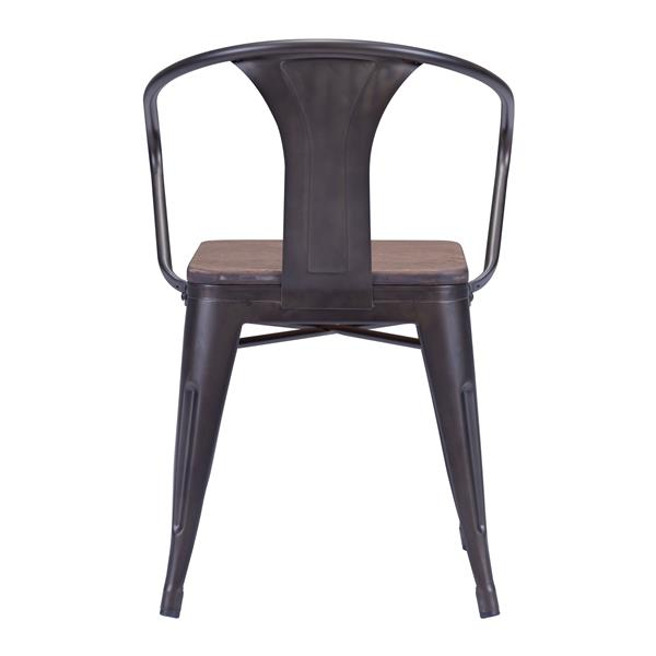 Zuo Modern Helix Dining Chair - 18-in x 15-in - Wood - Brown - Set of 2