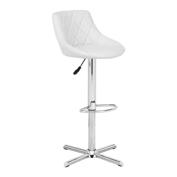 Chaise de Bar Devilin, similicuir, blanc