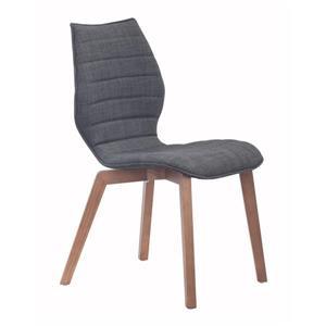 Chaise de salle à manger Aalborg de Zuo Modern, 18,9 po x 18,5 po, gris, ens. de 2