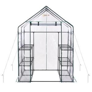 O-Grow Deluxe 56-in x 77-in Walk-In 3-Tier 12-Shelf Galvinized Steel Greenhouse