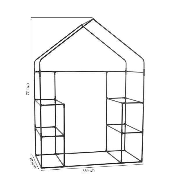 Serre Deluxe portative, 3 niveaux et 6 étagères, 56'' x 77''