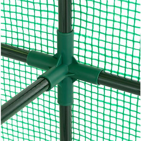 O-Grow Heavy Duty 49-in x 75-in Walk-In 2-Tier 8-Shelf Galvanized Steel Greenhouse