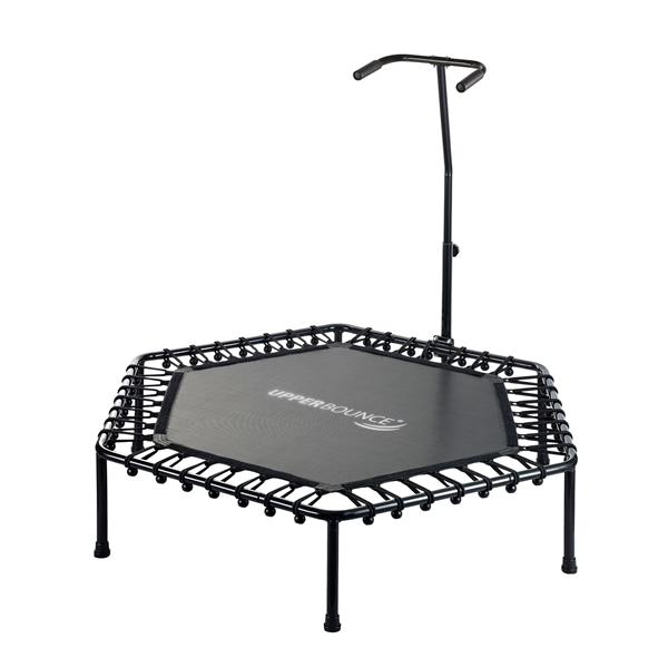 Upper Bounce 50-in Mini-Trampoline Fitness with Adjustable Handrail
