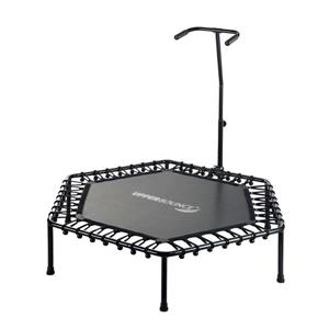 Mini-Trampoline Fitness with Adjustable Hand Rail - 50''