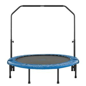 Upper Bounce® 48-in Fold Rebounder Trampoline with Adjutable Handrail