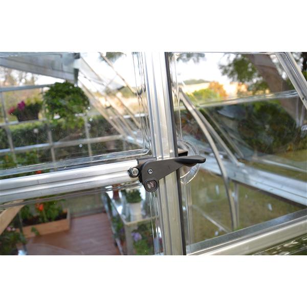 Palram Americana 12-ft x 12-ft Silver Aluminum Polycarbonate Greenhouse