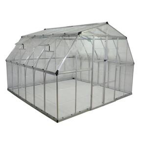Palram Americana 12-ft x 12-ft Silver Aluminum Polycarbonate Greenhouse