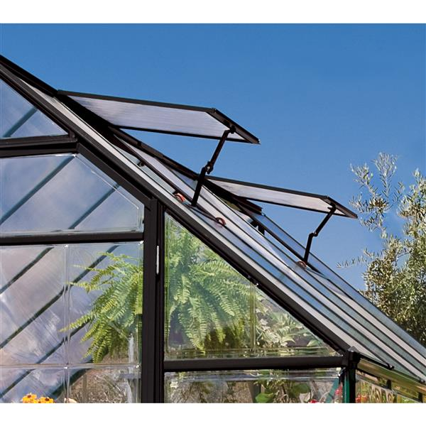 Palram Chalet Grey Aluminum Polycarbonate Greenhouse