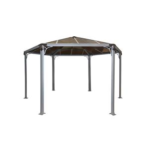Roma Hexagon Gazebo - Grey