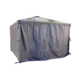 Palram Grey Metal Palerma Gazebo Curtains