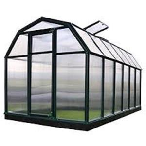 Rion Green Plastic 6-ft x 12-ft Eco Grow Polycarbonate Greenhouse
