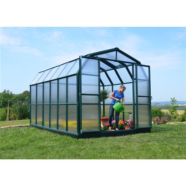 Rion Prestige Green 8-ft x 12-ft Polycarbonate Plastic Greenhouse