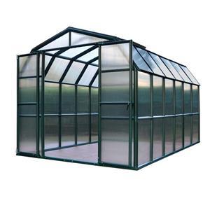 Rion Prestige Green 8-ft x 12-ft Polycarbonate Plastic Greenhouse