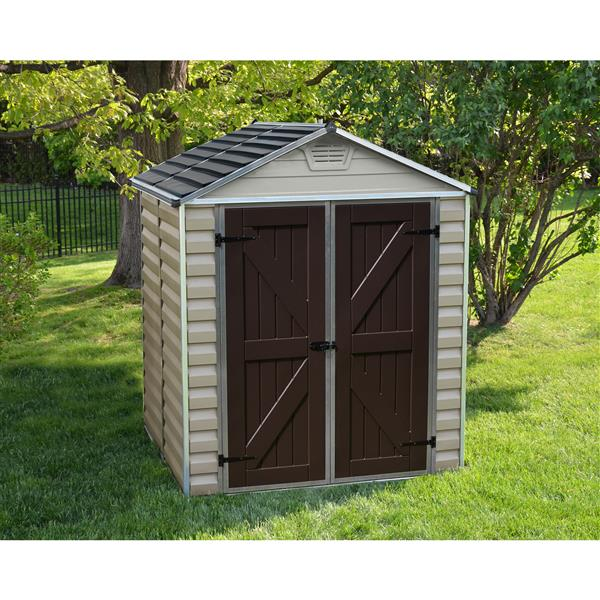 Palram 6-ft x 5-ft Beige Storage Shed