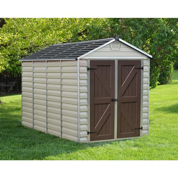 Palram 6-ft x 10-ft Beige Storage Shed