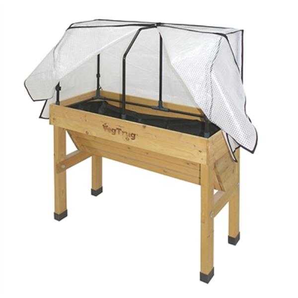 VegTrug Wall Hugger 53.60-in x 18-in Small Raised Greenhouse Planter