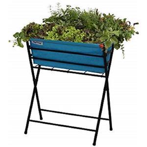 Vegtrug Classic 31.60-in x 16-in Foldable Blue Planter