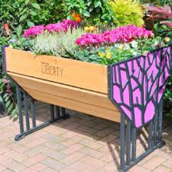 VegTrug Liberty 31-in x 29.75-in Multicoloured Raised Garden Planter