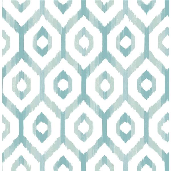 A-Street Prints Teal/Blue Lucia Diamond Wallpaper 20.5-in