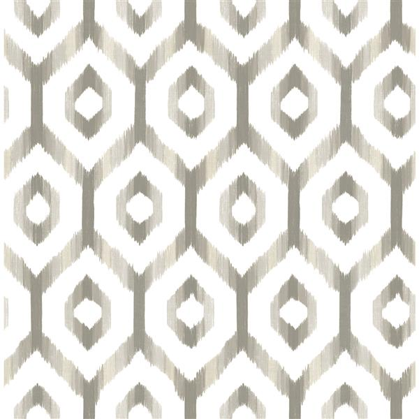 A-Street Prints Grey Lucia Diamond Wallpaper 20.5-in