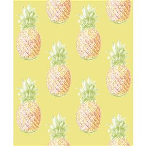 Papier peint « Copacabana Pineapple », jaune