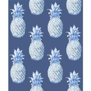 Papier peint « Copacabana Pineapple », bleu marin