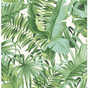 Papier peint « Alfresco Palm Leaf », vert