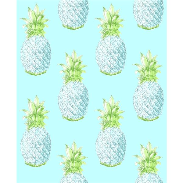A-Street Prints Turquoise/Blue Copacabana Pineapple Wallpaper