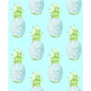 Papier peint « Copacabana Pineapple », bleu